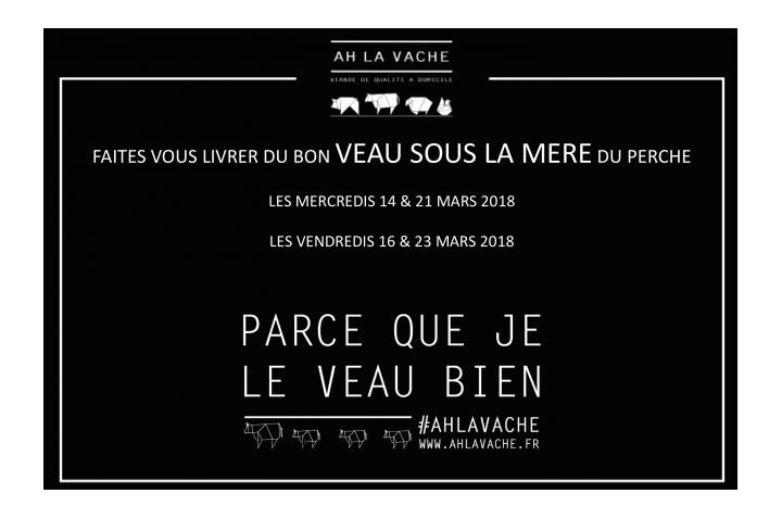 NOUVEAUTE Ah La Vache !